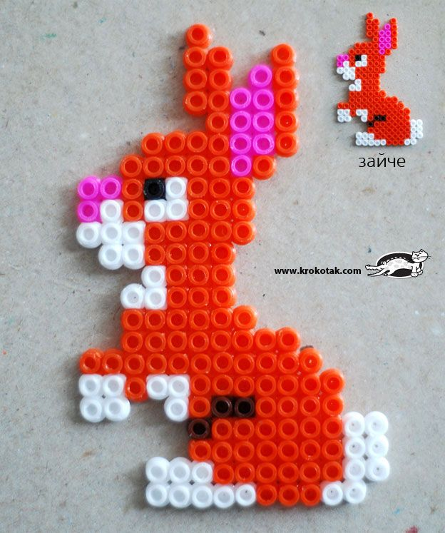 Rabbit hama perler beads