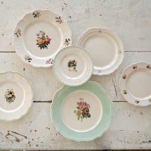 Vintage Inspired Floral Dish Set 1