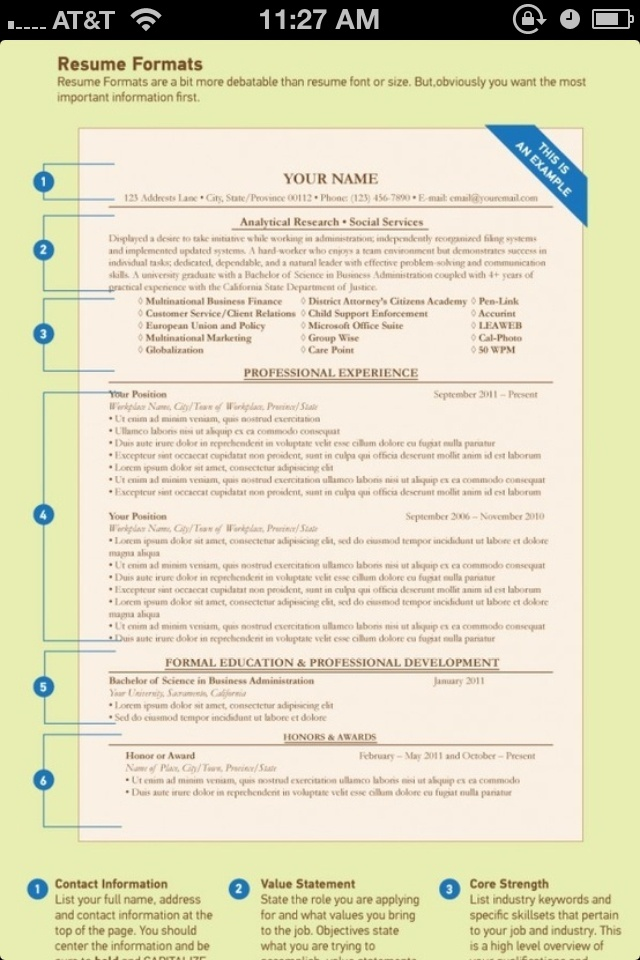 9 best business \ professional writing images on Pinterest - order of resume