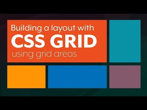Creating a nice layout CSS Grid layout using grid template areas - YouTube