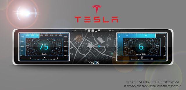 RATANDESIGNZ: Tesla Instrument Cluster Concept Design sketch