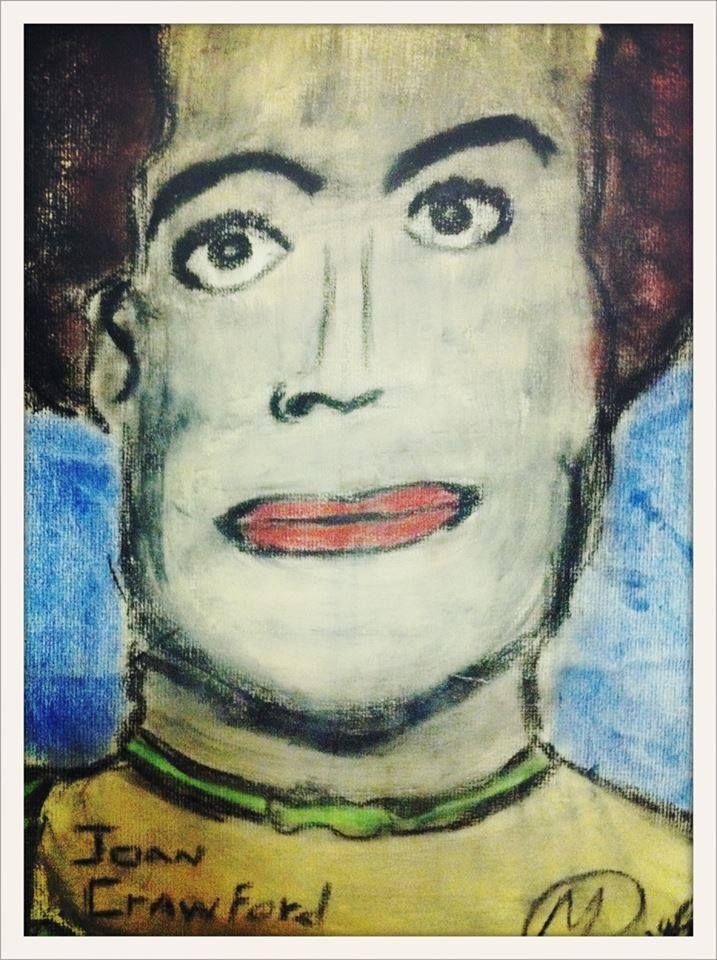 """joan crawford"" - artist unknown"