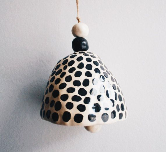 Ceramic jingle bell by GungaCeramics on Etsy