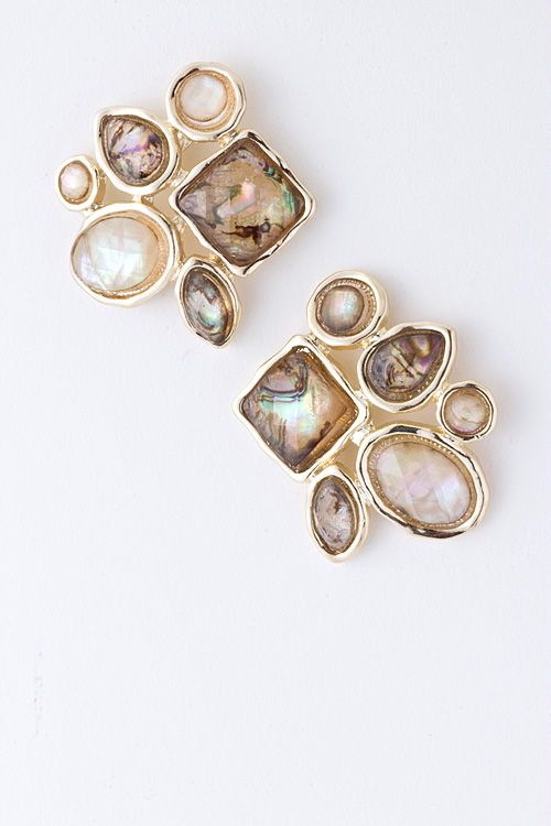 Champagne Collier Earrings | Emma Stine Jewelry Earrings