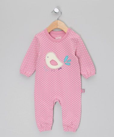 Pink Little Bird Romper by Kite Kids on #zulilyUK today! Idee für Vögelchen Applikation