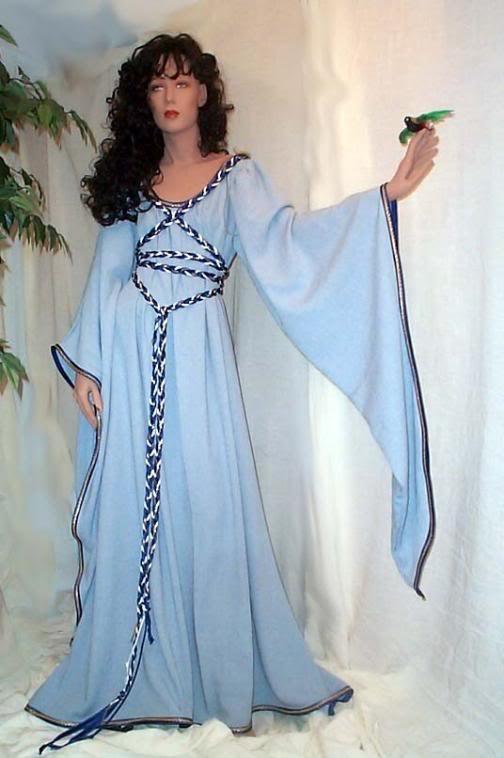 RENAISSANCE Fairy MEDIEVAL WEDDING Halloween Bridesmaid Dress Custom Made Small to X-Large. $79.99, via Etsy.