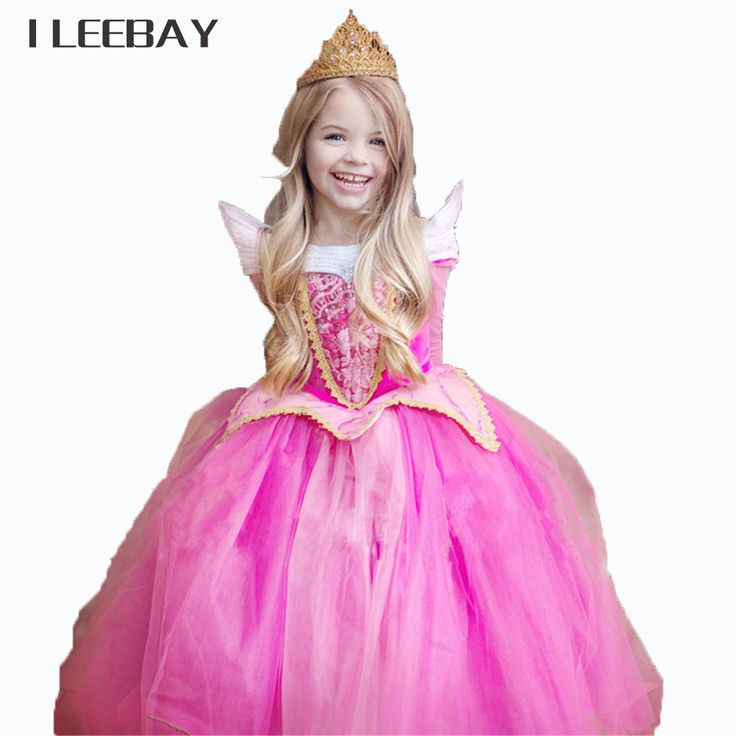 Kids Party Fancy Tulle Dress For Girls Christmas Gift Fairy Princess Dress Sleeping Beauty Aurora Gown Halloween Cosplay Costume