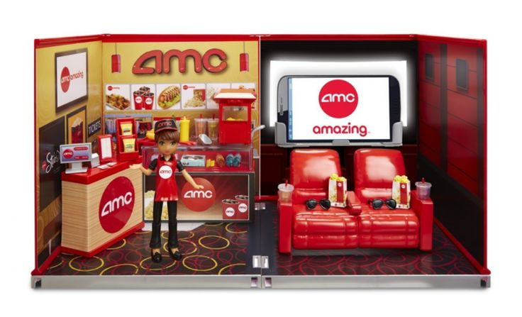 Other Building Toys 19015: Miworld Deluxe Environment Set With Doll-Amc Movie Theater, 50+ Accessories -> BUY IT NOW ONLY: $50.16 on eBay!