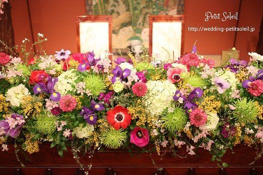目黒雅叙園鷲の間 装花