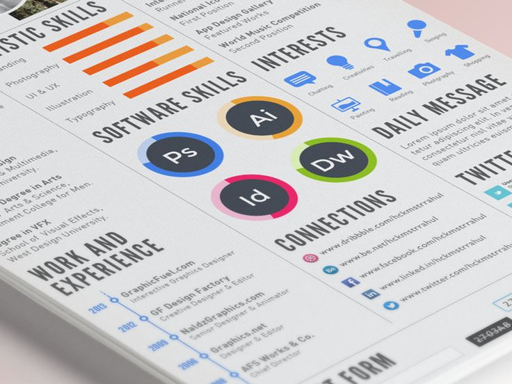 54 best design images on Pinterest Resume design, Resume examples