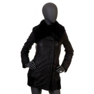 Patrizia Pepe - czarna skórzana kurtka