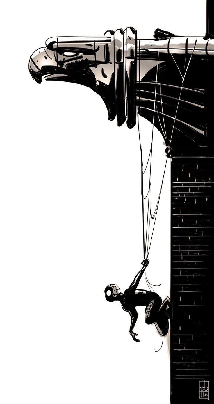 quick Spiderman sketch