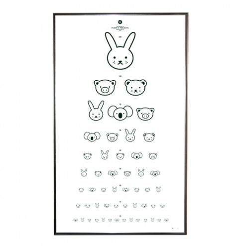 "(Animal) Eye Chart by FL4Projects - this is cute. But nowhere is mentioned that all these characters are made by Dick Bruna, a Dutch children's book illustrator. I think ""Nijntje"" is known as ""Miffy"" in English..."