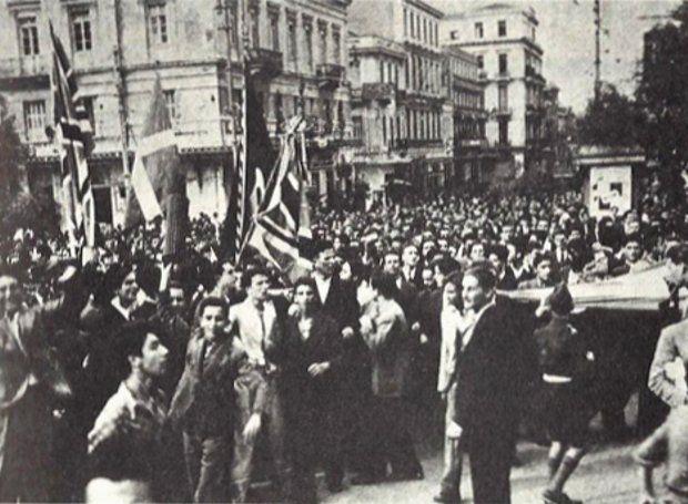Το τέλος της γερμανικής κατοχής: 12 Οκτωβρίου 1944. Ήταν ένα ηλιόλουστο πρωινό Πέμπτης, όταν οι καμπάνες των εκκλησιών άρχισαν να χτυπούν χαρμόσυνα, καλώντας τους Αθηναίους να ξεχυθούν στους δρόμους και να πανηγυρίσουν...