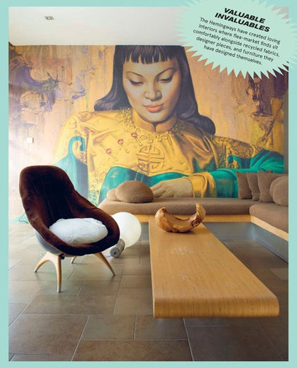 eclectic living room by Ryland Peters & Smalls | CICO Books