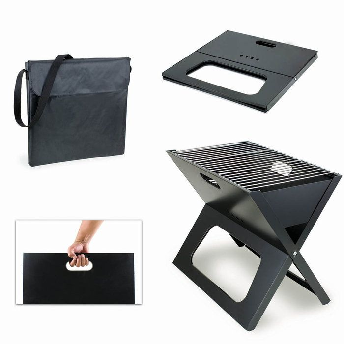 X Grill Ultra Portable Charcoal Grill and Carrying Tote  This would be great to keep in the trunk for an impromptu BBQ