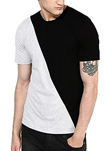131ba02df Veirdo Plain Solid Black Half Sleeve Round Neck Men s Cotton Tshirt ...