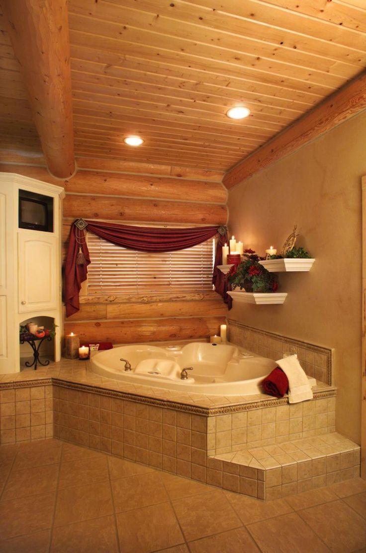 16 besten Log Home Interiors Bilder auf Pinterest | Holzhütten ...