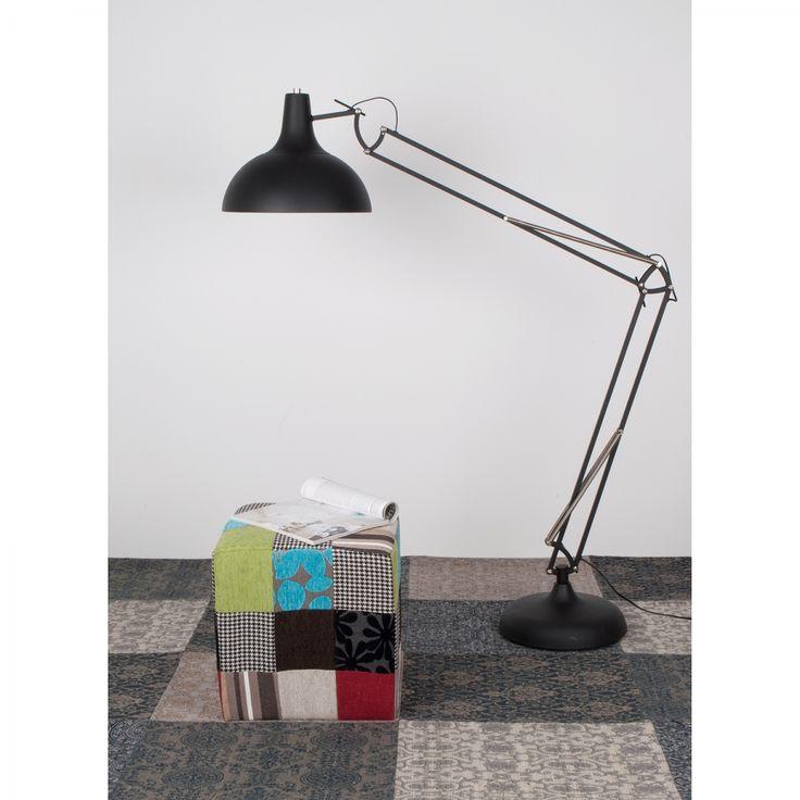 Stehleuchte Office Floor II 1-flammig - Schwarz Metall