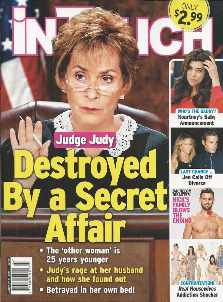 In Touch magazine Judge Judy Kourtney Kardashian The Bachelor Real Housewives