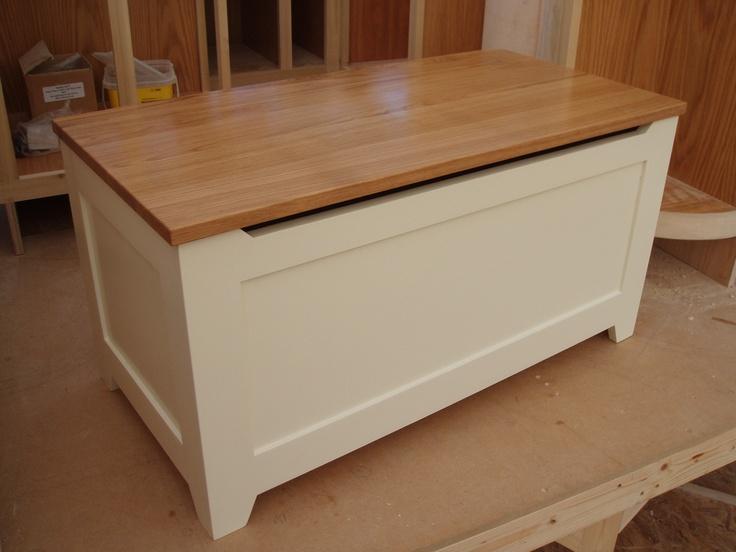 Best Toy Storage Containers : White wooden storage chest home design ideas