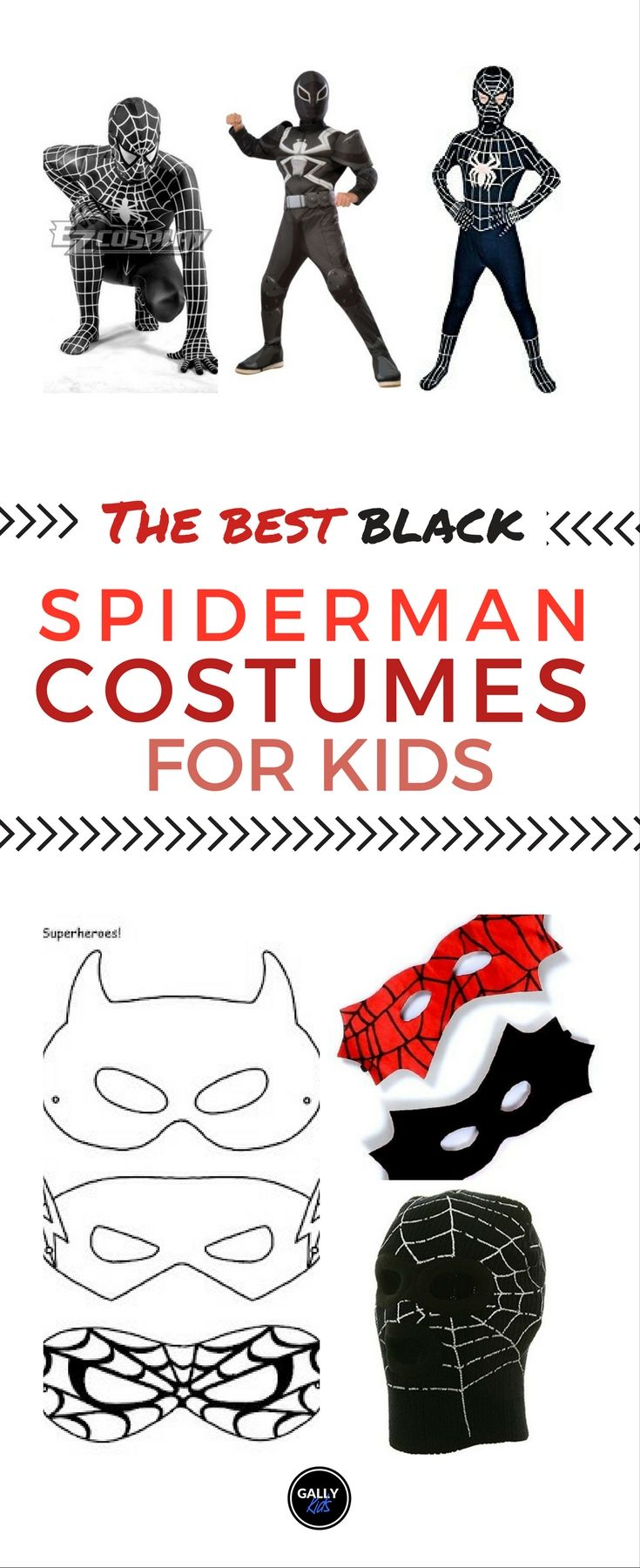 Black Spiderman costumes for kids. For the true blue spiderman fan! Be unique. Different Venom Symbiote costumes. #spidermancostume
