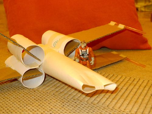 homemade magic   Toilet Roll X-Wing