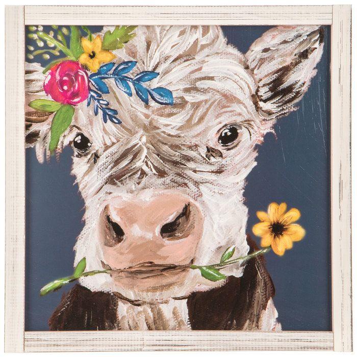 Cow With Flowers Wood Wall Decor Hobby Lobby 1643832 In 2020 Cow Wall Art Cow Decor Wood Wall Decor