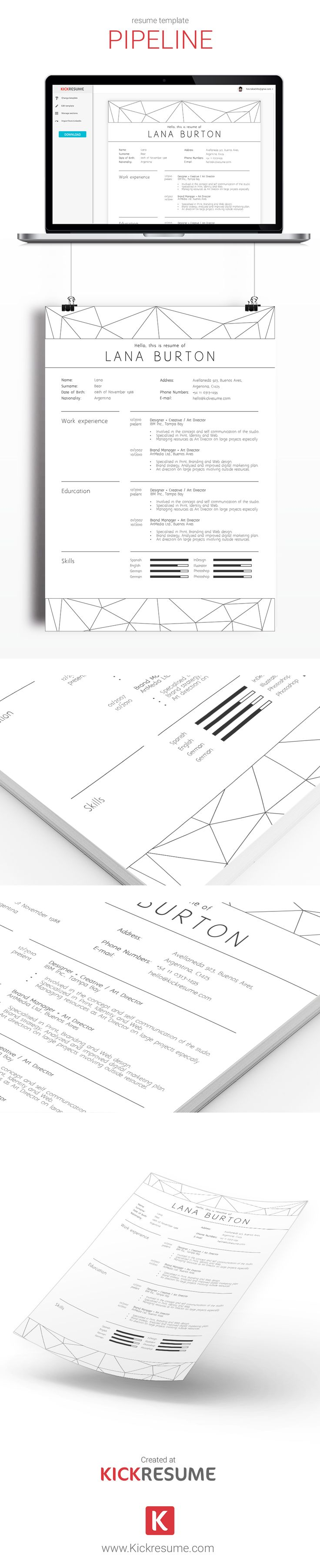 18 best kickresume templates gallery  resume samples  resume templates  cover letter samples