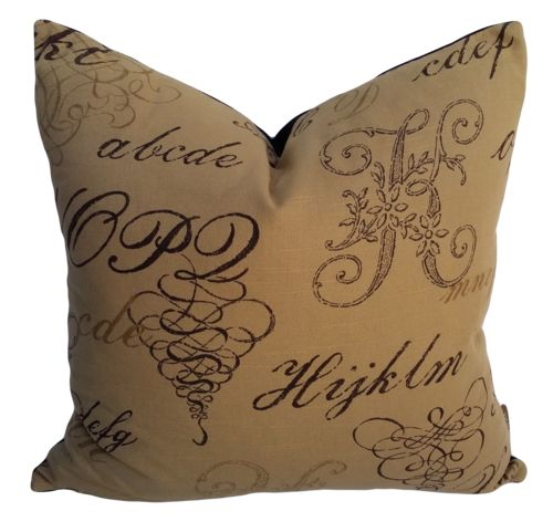Monogram Paper Bag Cushion Cover