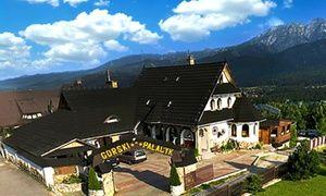 Hotel z widokiem na Giewont, najpopularniejszy szczyt w Tatrach, położony w pobliżu tatrzańskich dolin