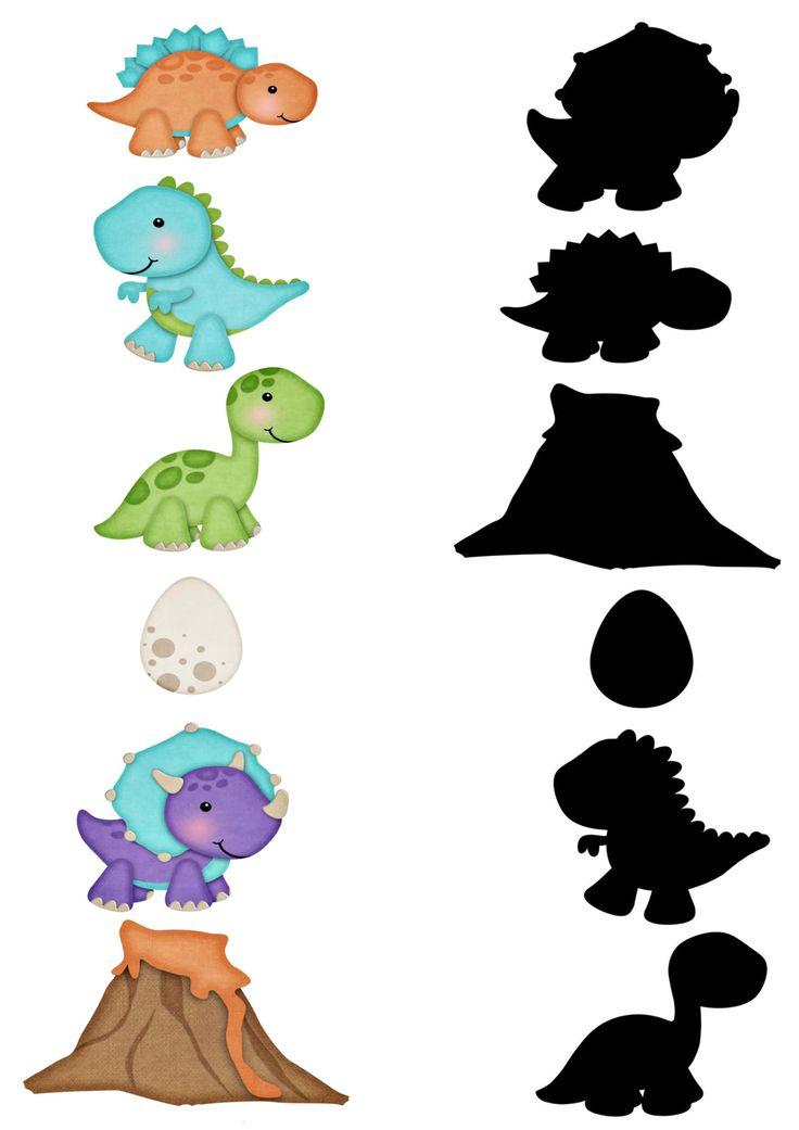 Найди тень. Динозавры