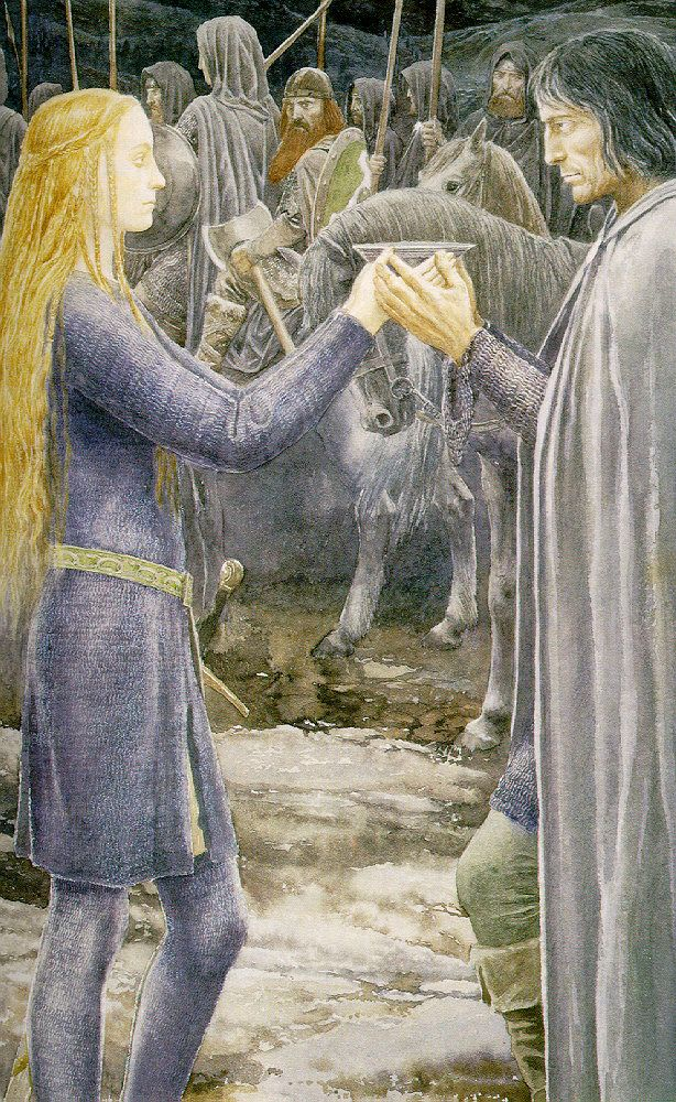 Eowyin and Aragorn (Alan Lee)