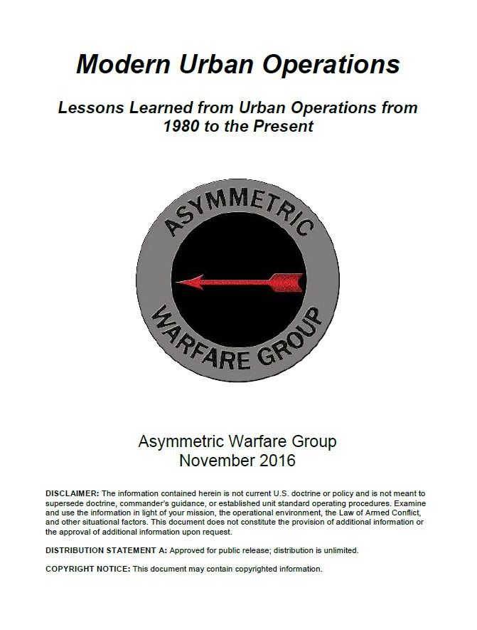 ARCHIVE - IISCA: Modern Urban Operations: Lessons Learned from Urba...
