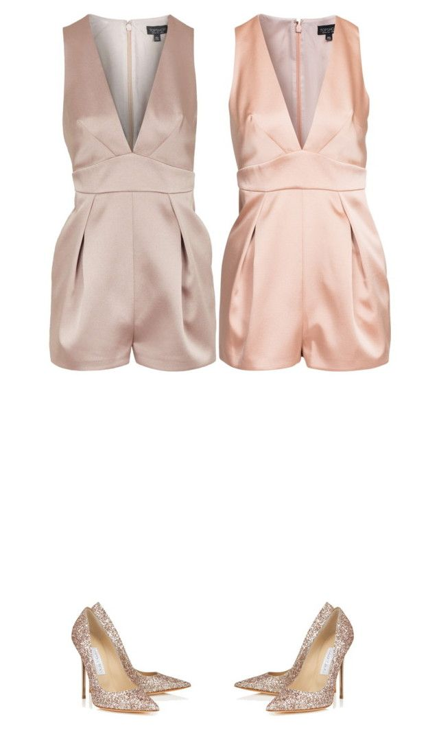 """""""Senza titolo #388"""" by a-n-n-a-x ❤ liked on Polyvore featuring Topshop and Jimmy Choo"""
