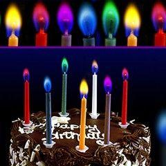 Праздничные свечи с разноцветным пламенем