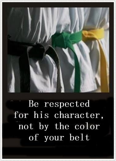Character is more important than rank.