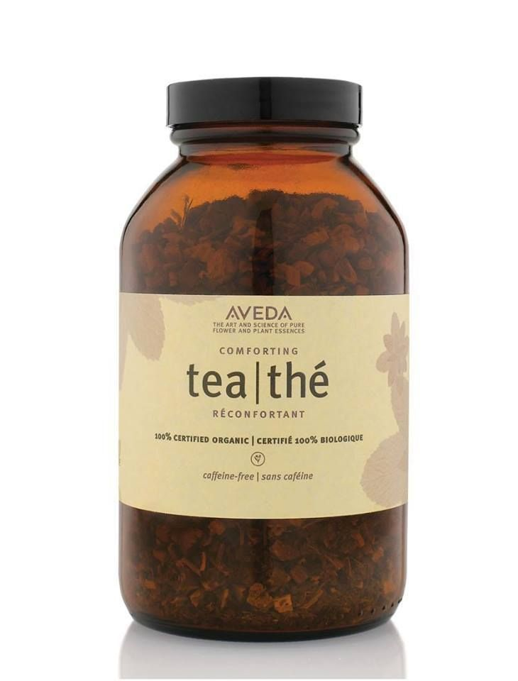 Swap out your coffee for a comforting cup of Aveda tea.