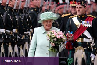 The Queen takes part in the Ceremony of the Keys at the Palace of Holyroodhouse