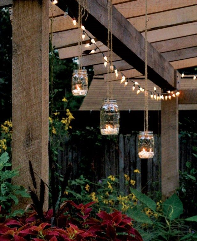 High Quality Suspended Mason Jar Votives Are A Gorgeous Addition To Any Backyard  Bungalow 111 Best In The Garden Images On Pinterest