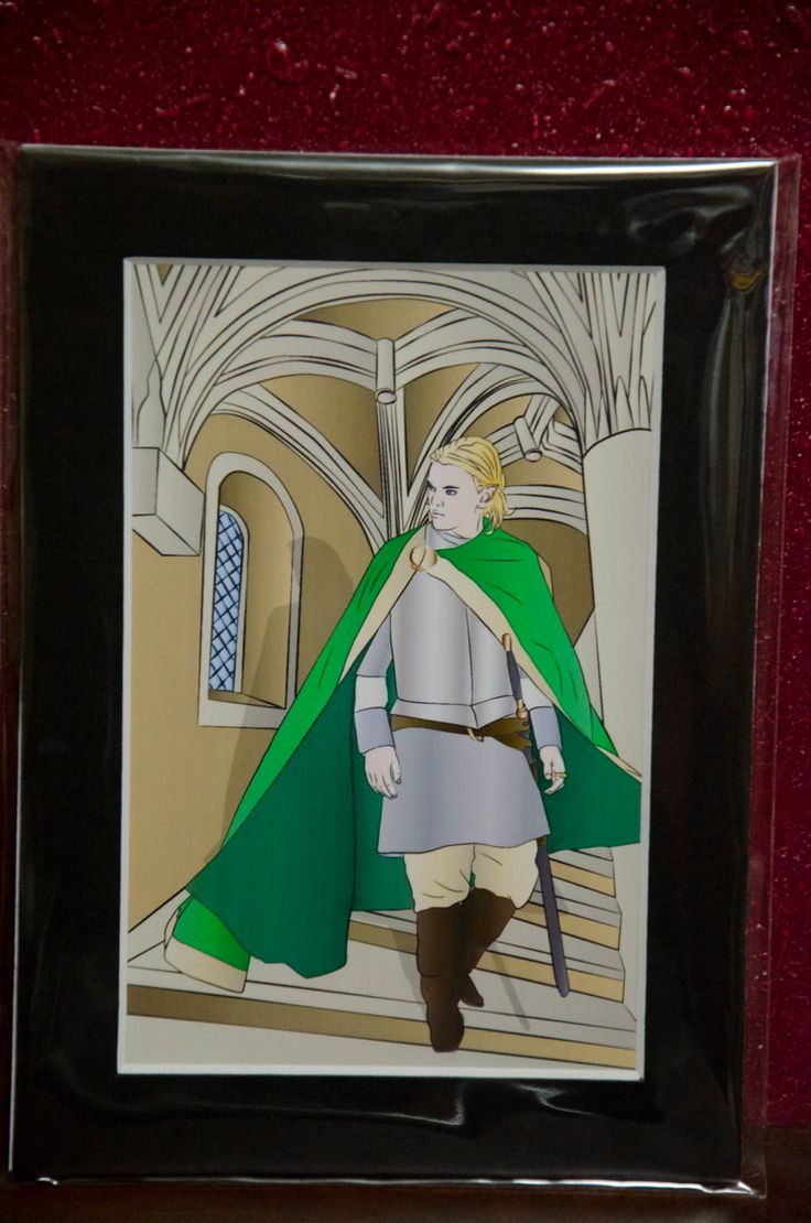 """4x6 High Quality glossy Matted (5x7) print, """"Elf Prince"""" original art, Dungeons and Dragons, elves, fantasy, Ars Magica, Lord of the Rings by TheElliottsCloset on Etsy"""