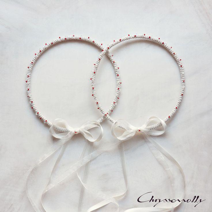 WEDDING | Chryssomally || Art & Fashion Designer - Uniquely handmade wedding crowns for a Valentine themed wedding