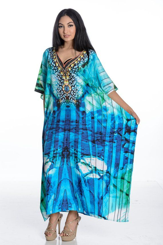 4fd7fcd6dd kaftan dress caftan maxi dress in silk crepe plus size beach maxi leopard  print in midnight blue #CaftanDress #kaftan #ChristmasGifts  #PlusSizeMaternity ...