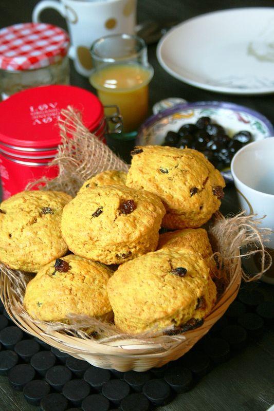 Scones au curcuma et raisins secs Passion culinaire Minouchka