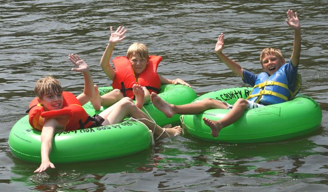Spend a carefree day tubing down the scenic Delaware River at Bucks County River Country.