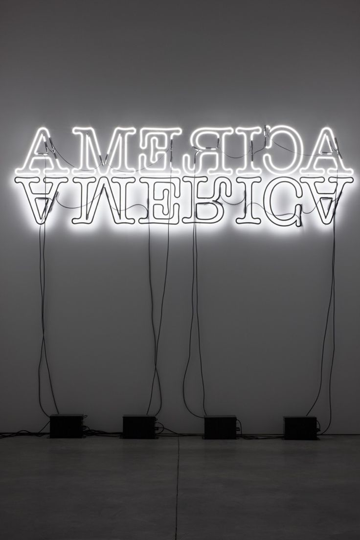 Glenn Ligon, Double America, 2012. © Glenn Ligon; Courtesy of the artist, Luhring Augustine, New York, Regen Projects, Los Angeles, and Thomas Dane Gallery, London.