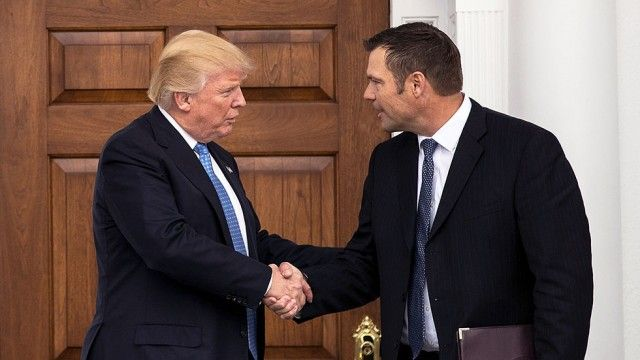 Kobach fined over Trump meeting memo  - meeting memo