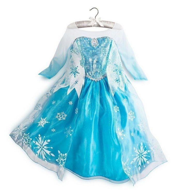 Лихорадка девушки одежда эльза зима платье рождественские костюмы для девочек снежная королева принцесса анна платье дети ну вечеринку платья купить на AliExpress