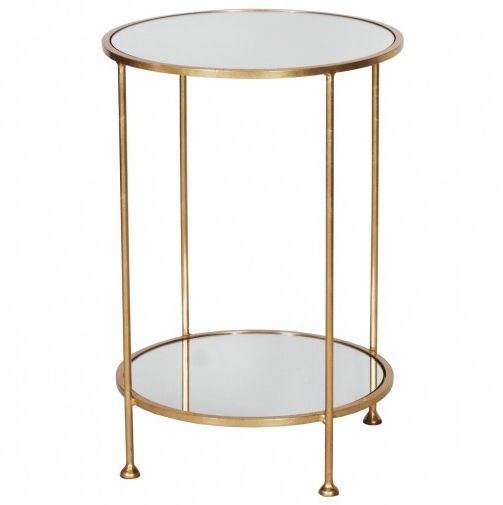 Worlds Away Chico Gold Side Table