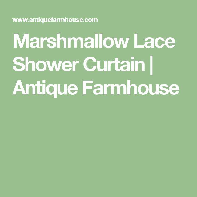 Marshmallow Lace Shower Curtain | Antique Farmhouse